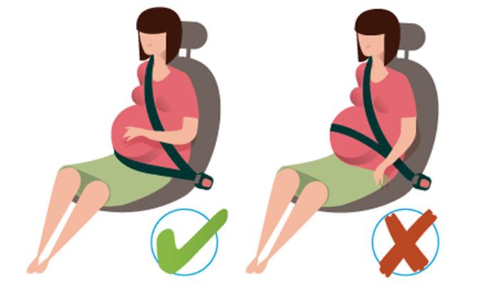 Resultado de imagen de mujer embarazada cinturon